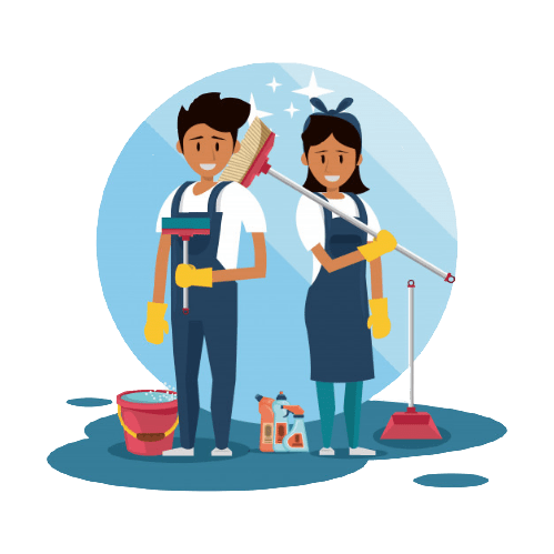 cleaners with cleaning products housekeeping service 18591 52068 removebg preview